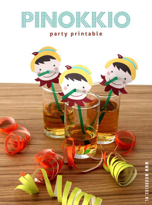 Pinokkio party printable nw